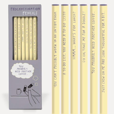 Procrastination Pencil Set