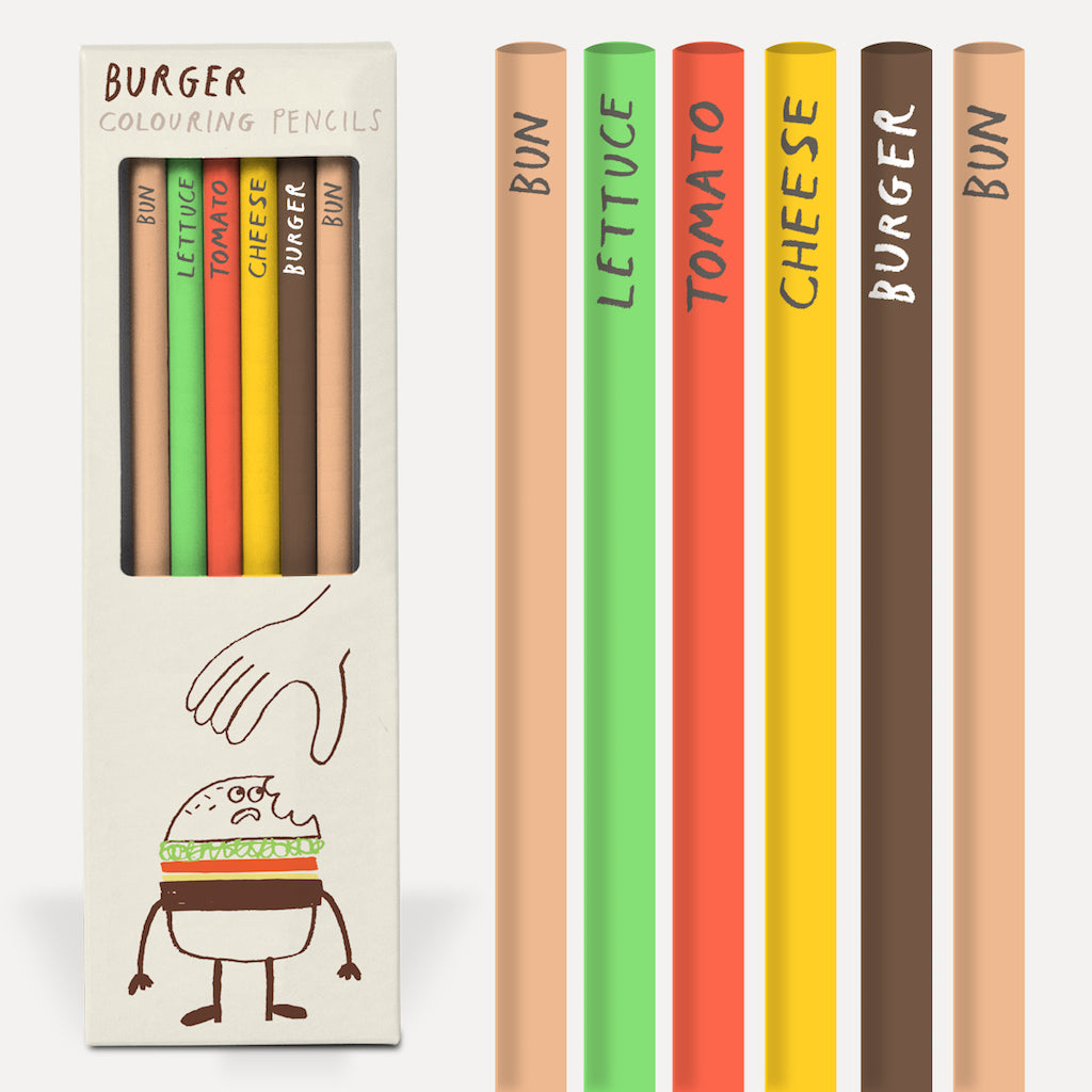 Burger Pencil Set