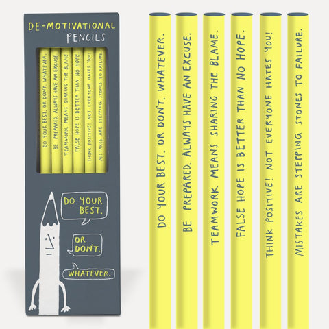 De-Motivational Pencil Set