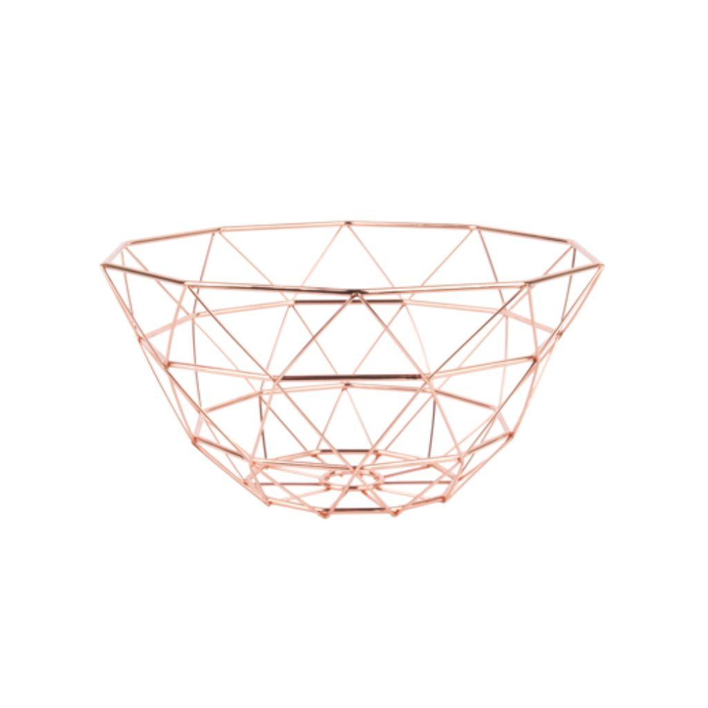 Rose Gold Geometric Basket