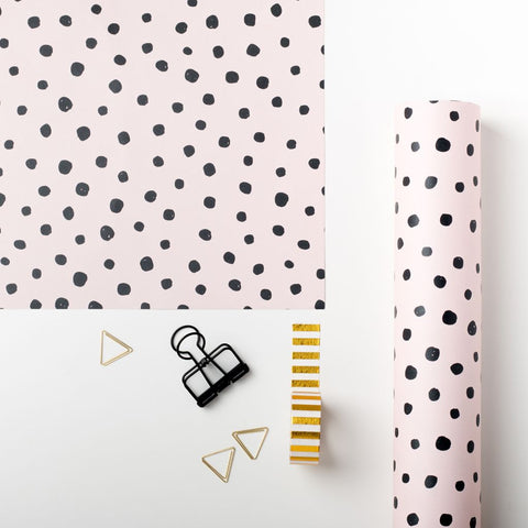 Blush Polka Dot Gift Wrap