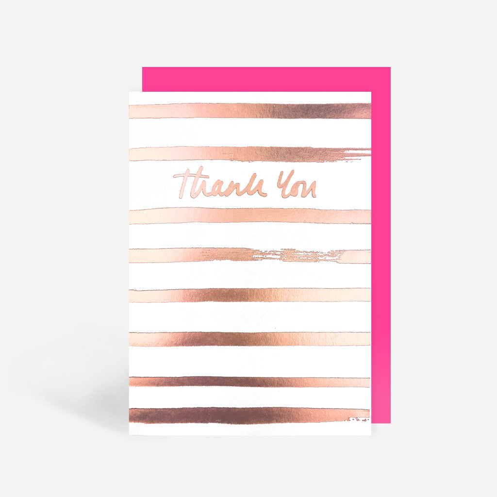 Thank You Rose Gold Greetings Card