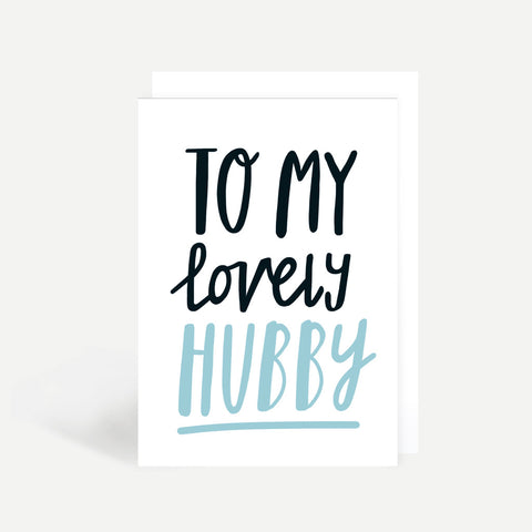 Lovely Hubby Greetings Card