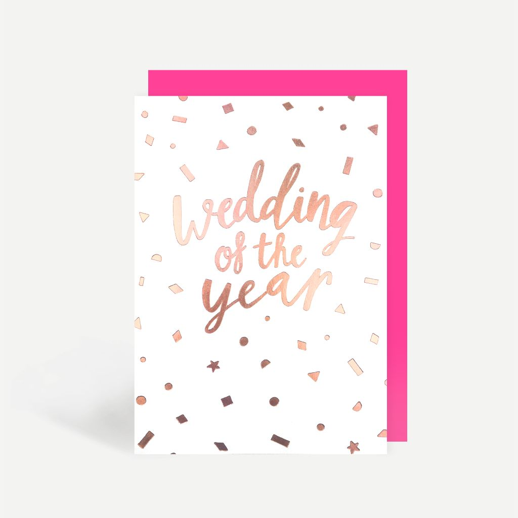 Wedding Of The Year Greetings Card