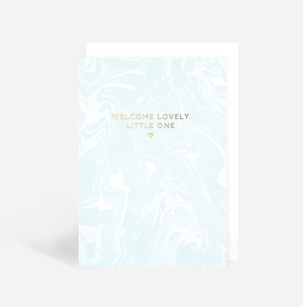 Welcome Baby Boy Greetings Card
