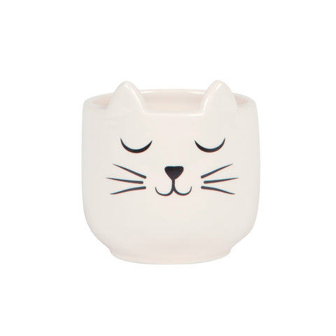 Small Cat Monochrome Mini Planter