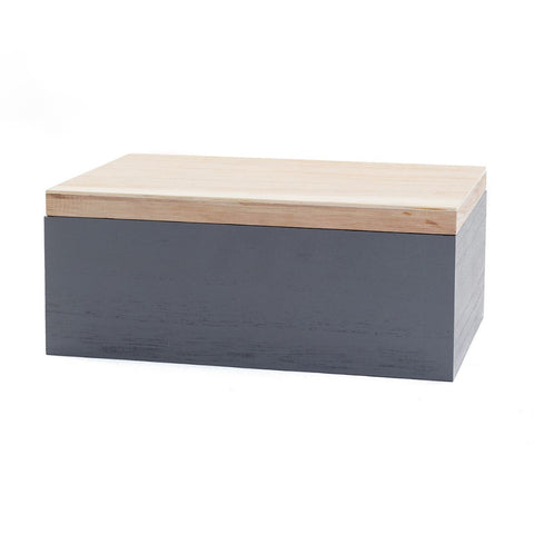 Grey Wooden Rectangular Box