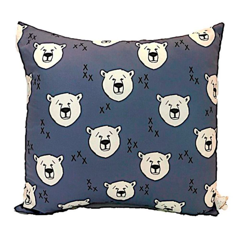 Polar Bear Print Handmade Cushion