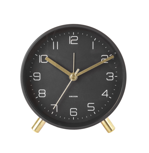 Black Gold Alarm Clock