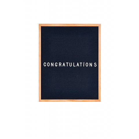 Midnight Blue Felt Large Message Board