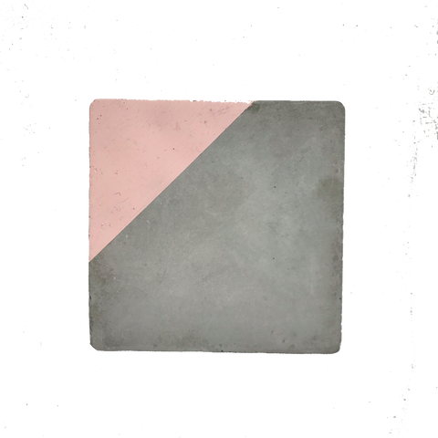 Concrete & Blush Pink Coaster