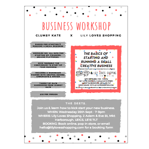 Starting A New Business Workshop - 26th Sept