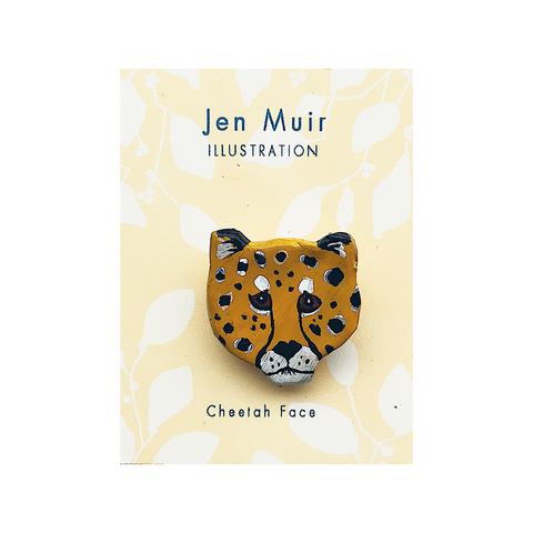 Cheetah Handmade Brooch Badge