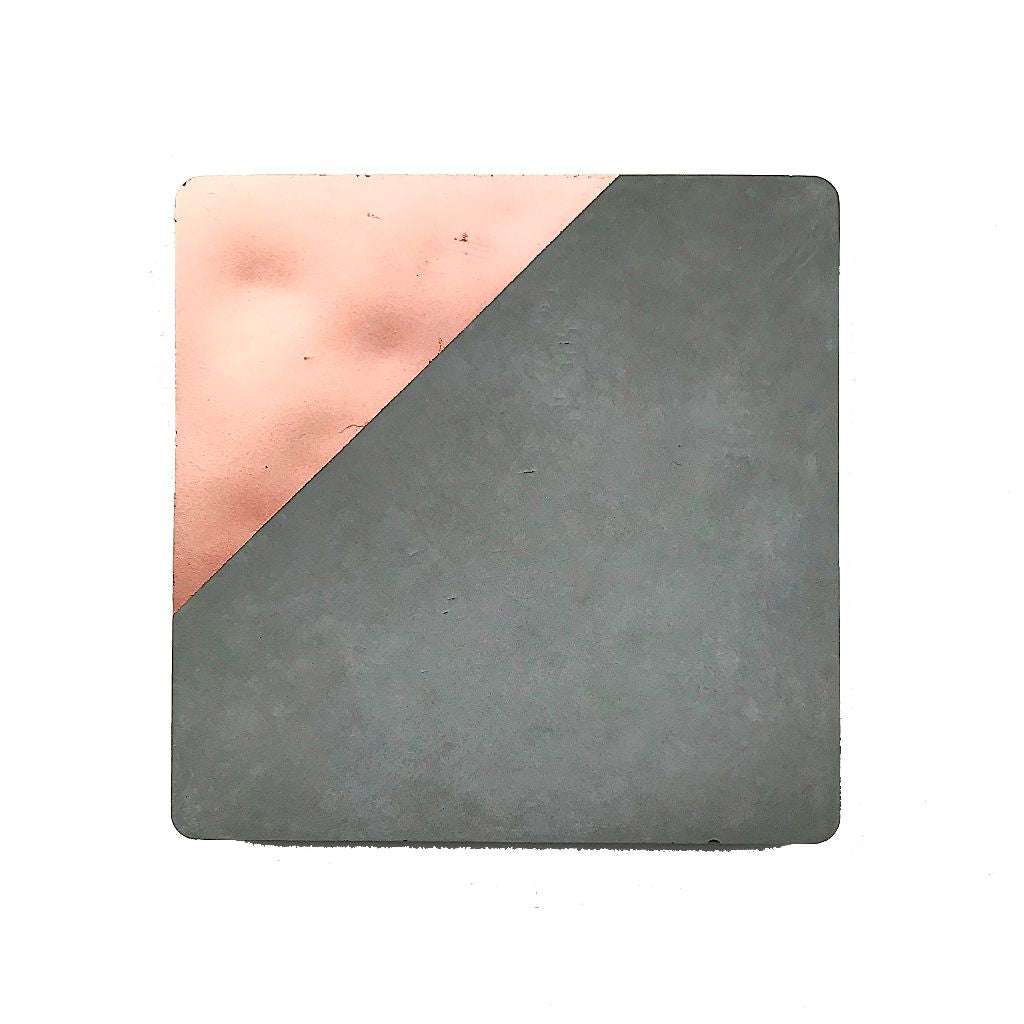 Concrete & Rose Gold Coaster