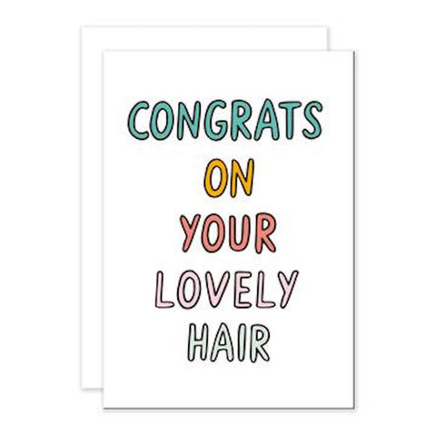 Lovely Hair Greetings Card