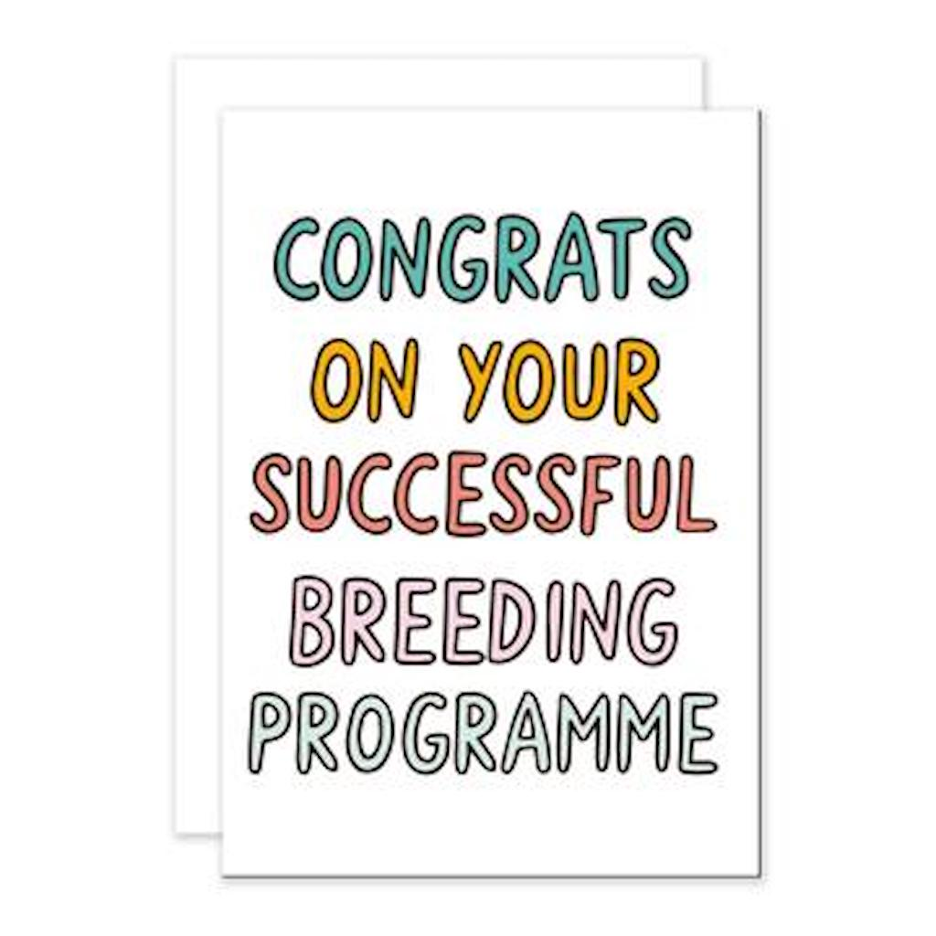 Breeding Programme Greetings Card