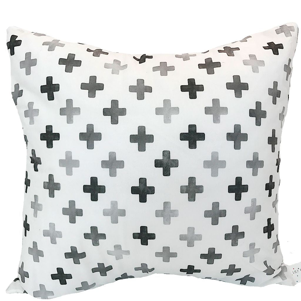 Monochrome Swiss Cross Cushion