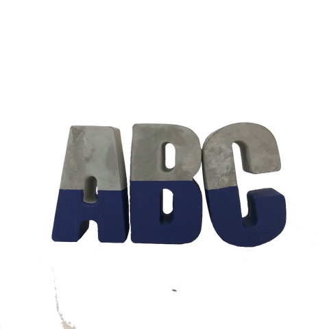 Concrete and Deep Blue Letters