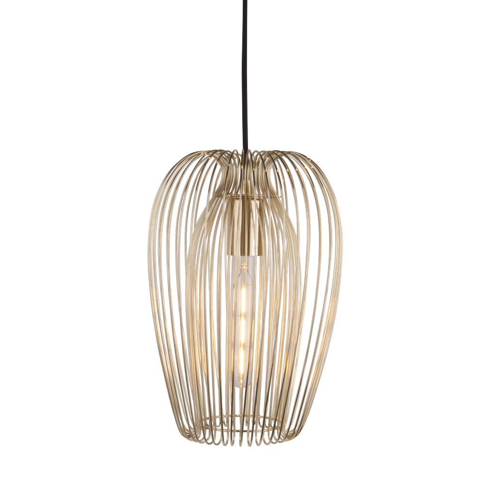 Gold metal pendant light fitting lily loves shopping