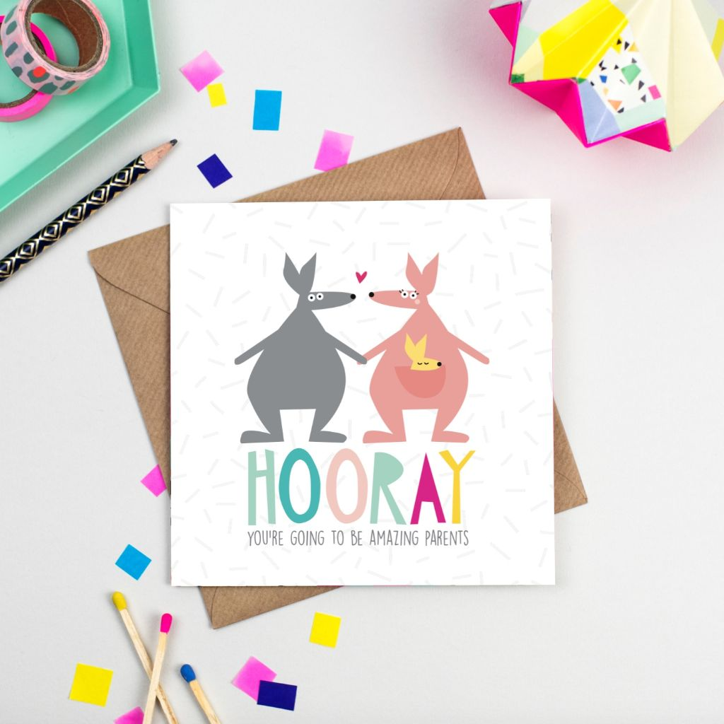 Hooray new parents greetings card lily loves shopping hooray new parents greetings card m4hsunfo