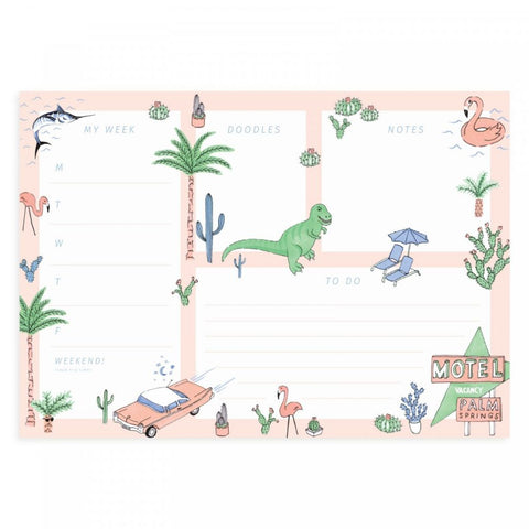 Palm Springs A4 Desk Pad