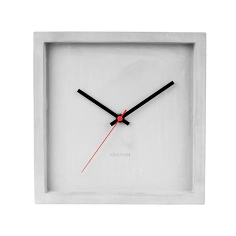 Square Concrete Clock