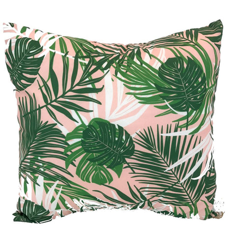 Tropical Leaf Print Handmade Cushion