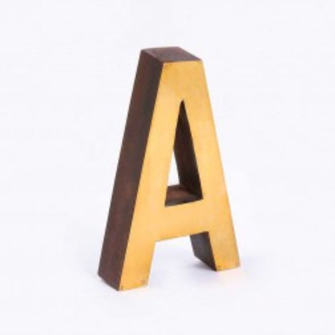 Wood & Brass Chunky Letters