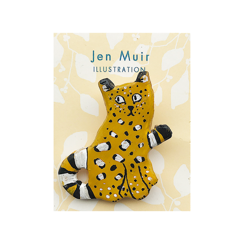Leopard Handmade Brooch Badge