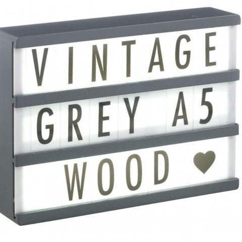 Grey Wooden A5 Lightbox