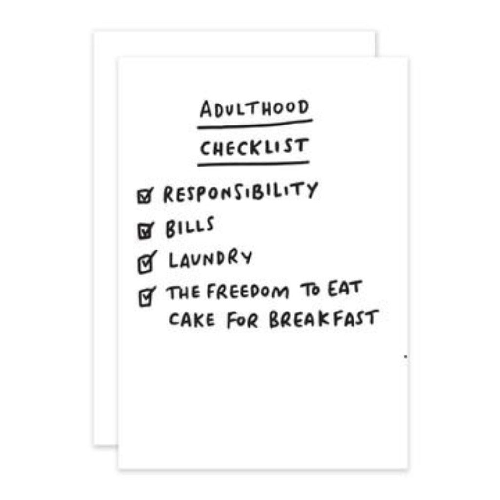 Checklist - Adult Greetings Card