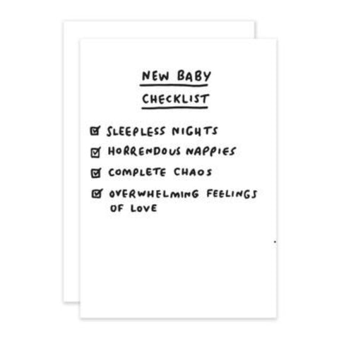 Checklist - New Baby Greetings Card