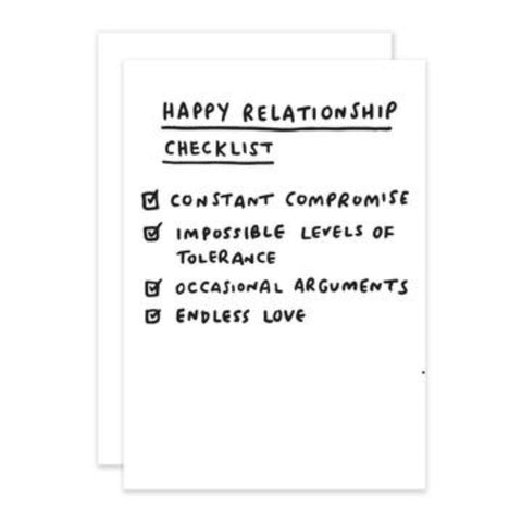 Checklist - New Relationship Greetings Card