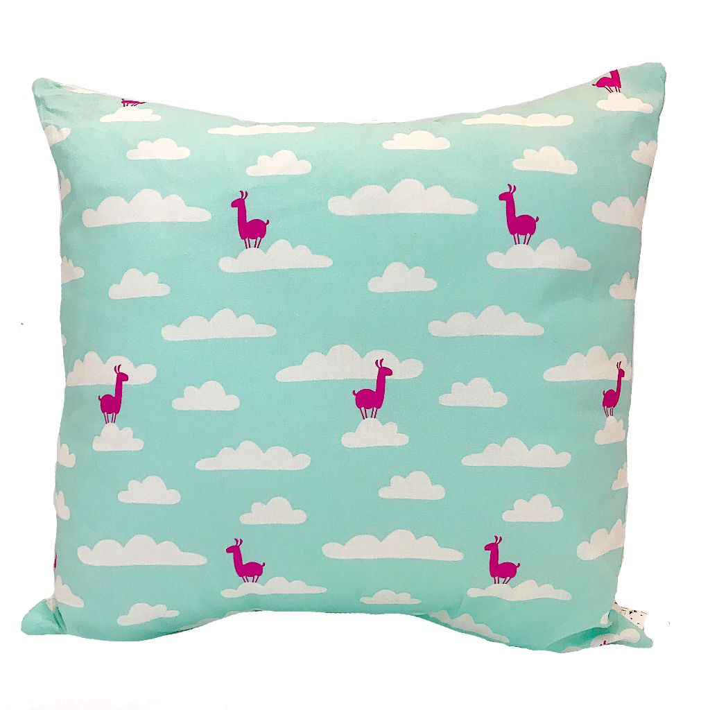 Llama Cloud Print Handmade Cushion