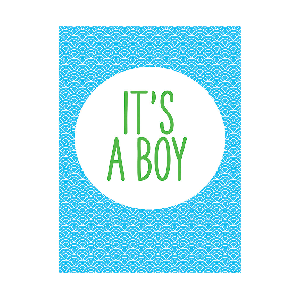 It's A Boy Greetings Card
