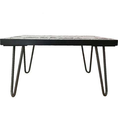 Solid Marble Black Side Table
