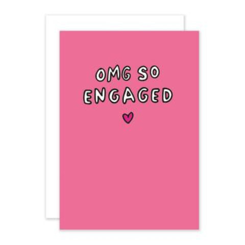 OMG Engaged Greetings Card