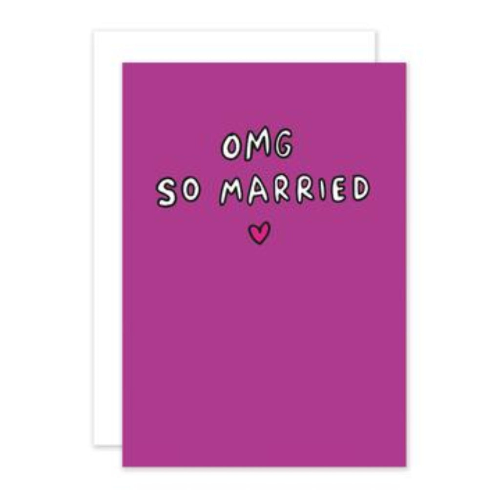 OMG Married Greetings Card
