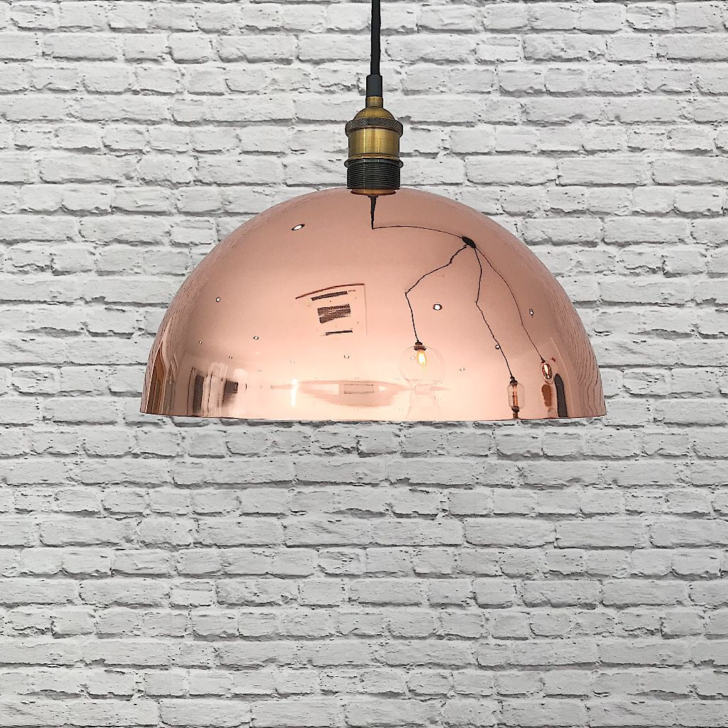 Rose Gold Dome Lampshade