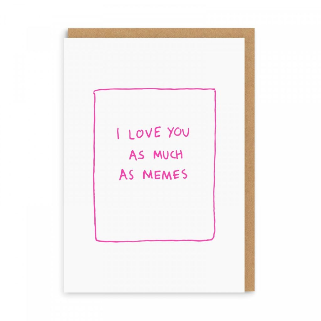 Meme Love Greetings Card