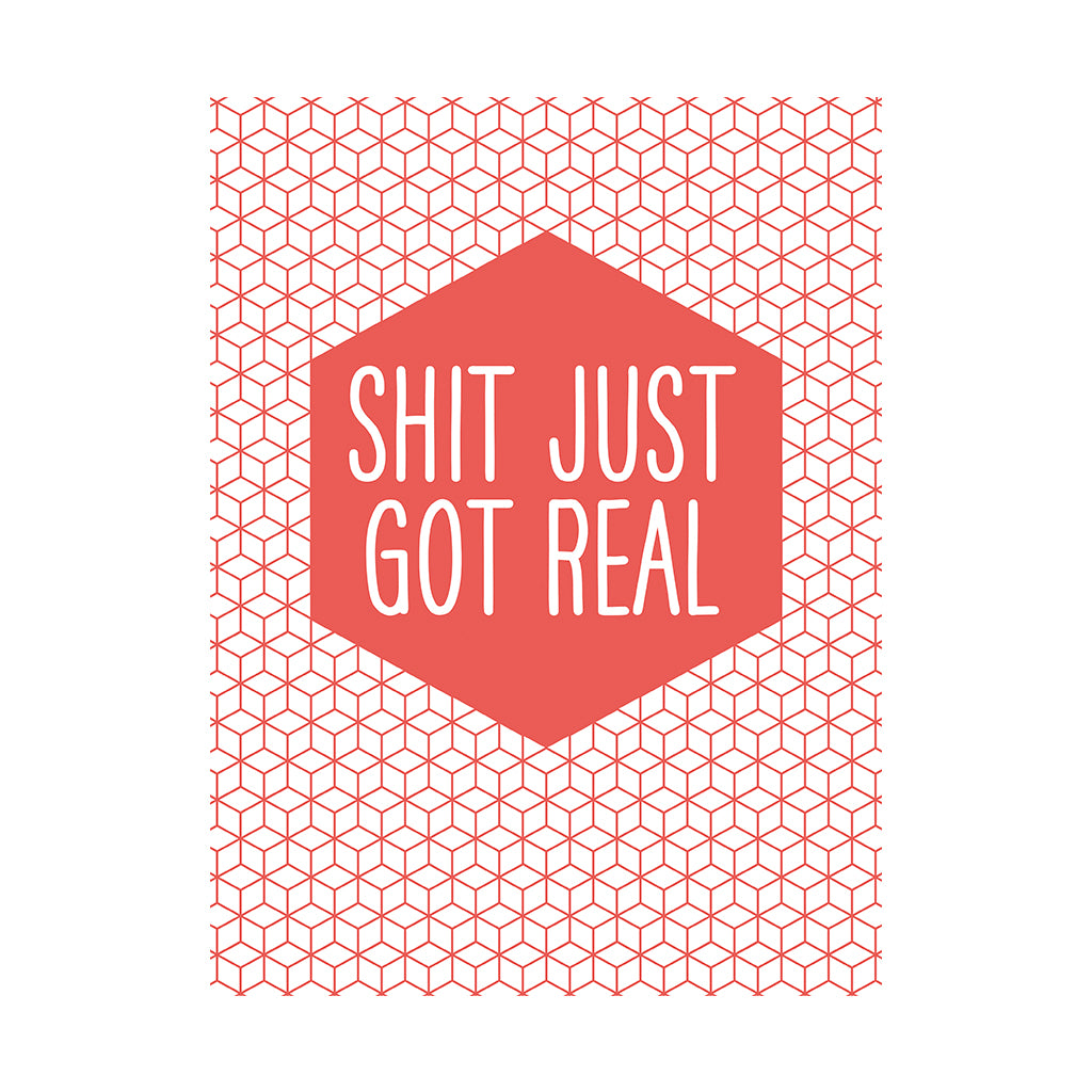 Shit got real greetings card lily loves shopping shit got real greetings card kristyandbryce Image collections