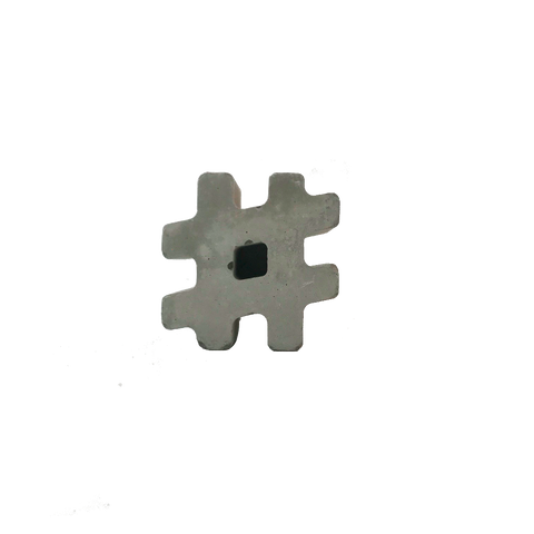 Plain Concrete Small Hashtag