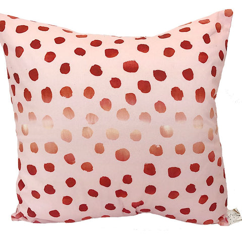 Rose Gold Spotty Handmade Cushion
