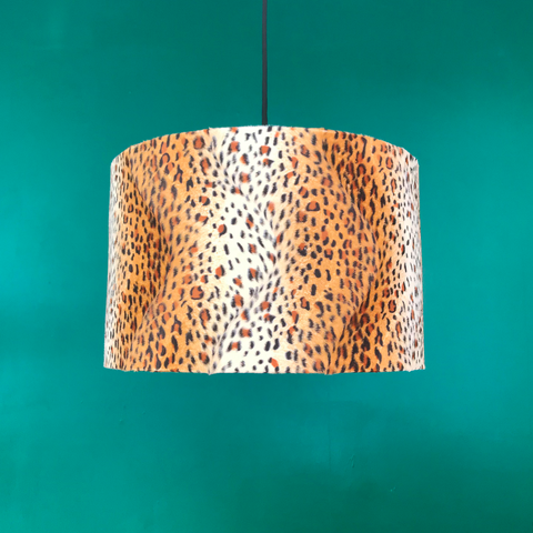 Textured Leopard Print 40cm Lampshade