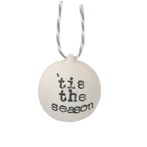 'Tis The Season Hand Stamped Bauble
