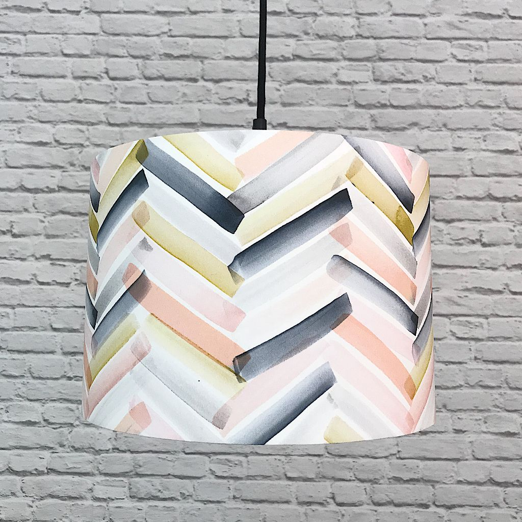 Watercolour Brushstrokes Handmade Lampshade