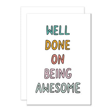 Being Awesome Greetings Card