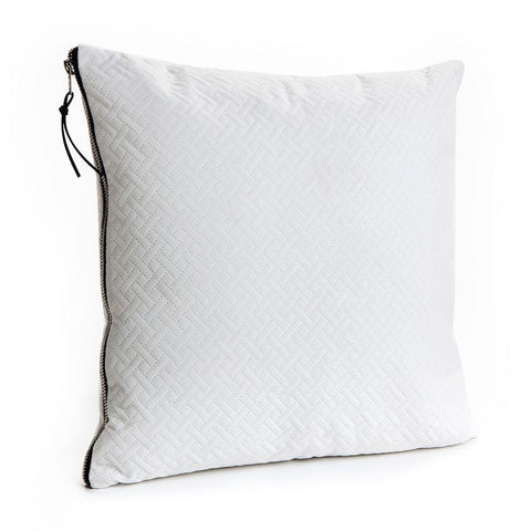 White Herringbone Cushion