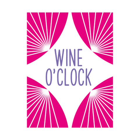 Wine O'Clock Greetings Card