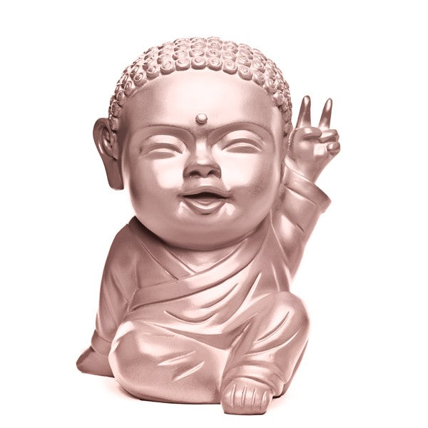 Statuette Iki, le pop bouddha or rose, fabriquée et vendue par The Happy Factory